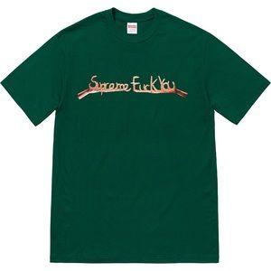Supreme Fuck You Tee Dark Green 💚